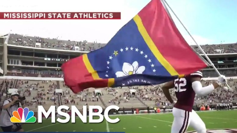 Mississippi's New Flag On Display At Mississippi State Football Game | Ayman Mohyeldin | MSNBC 1