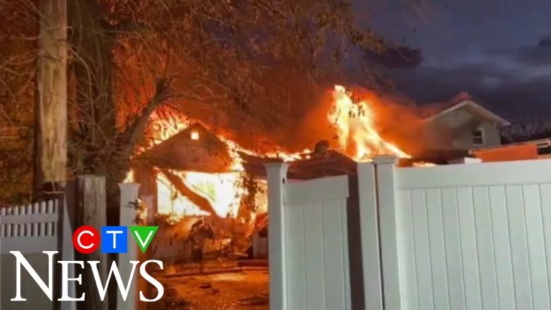 Caught on cam: Gas explosion destroys houses in New York 1