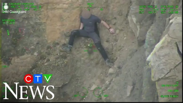 Climber trapped on muddy slope rescued by U.K. coast guard 1