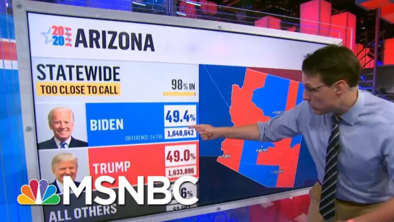 Kornacki Explains Why Arizona And Georgia Are Still Undecided | The 11th Hour | MSNBC 1