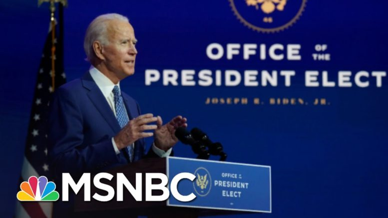 Biden Is Getting To Work While Trump Is Refusing To Concede | The 11th Hour | MSNBC 1