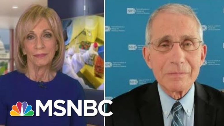 Dr. Fauci: Masks Are 'A Two-Way Street' | Andrea Mitchell | MSNBC 1