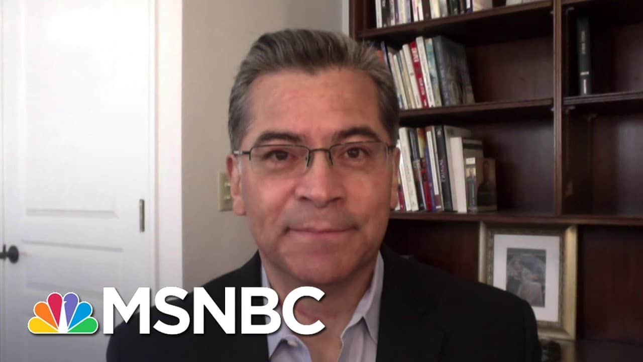 California AG Becerra Discusses The ACA Case Before The Supreme Court   Andrea Mitchell   MSNBC 6