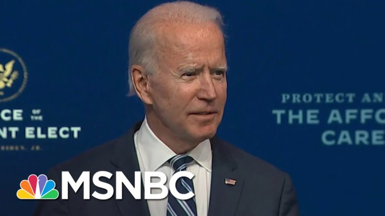 Biden Continues With Transition Plans As Republicans Deny Election Results | Ayman Mohyeldin | MSNBC 1