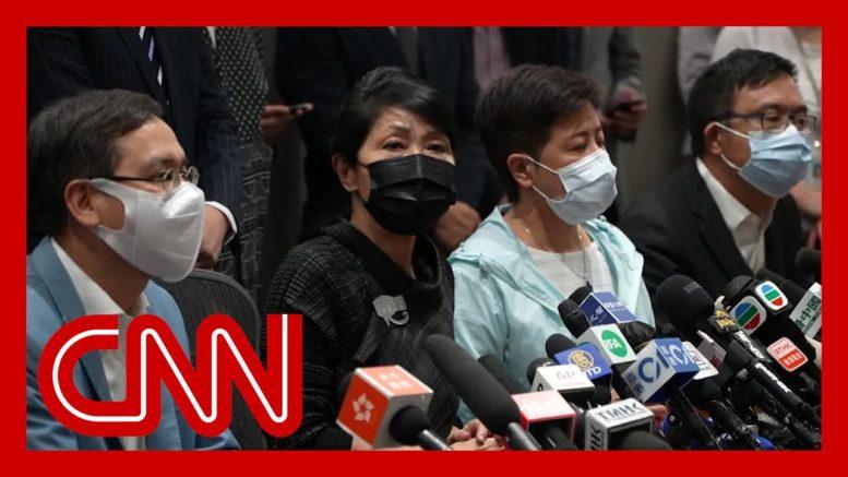 Hong Kong pro-democracy lawmakers resign en masse 1
