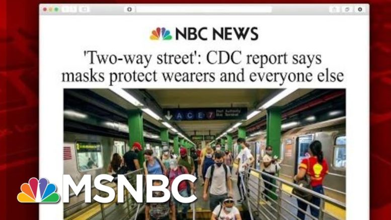 CDC Report Says Masks Protect Wearers And Everyone Else | Morning Joe | MSNBC 1