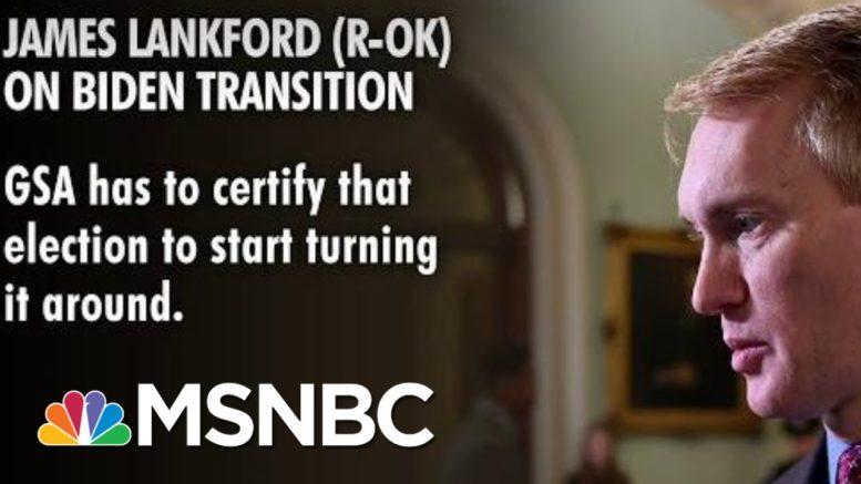 GOP Senator Calls On Biden Transition To Begin | Morning Joe | MSNBC 1