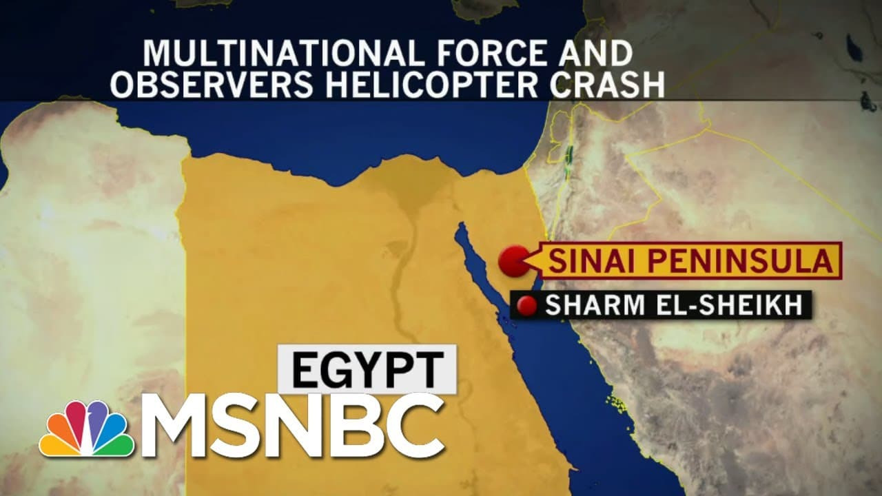 Helicopter Crash In Egypt Leaves Six Americans Dead, One Injured | Craig Melvin | MSNBC 4