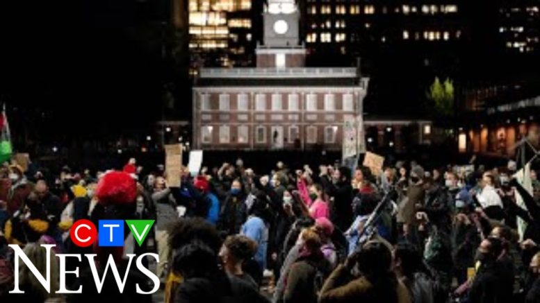Protests erupt amid vote-counting in battleground states 1