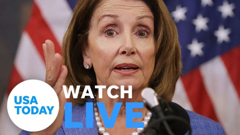Speaker Nancy Pelosi holds weekly news conference (LIVE) | USA Today 1