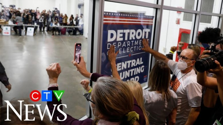 'Stop the count': Trump supporters converge at vote centres 1