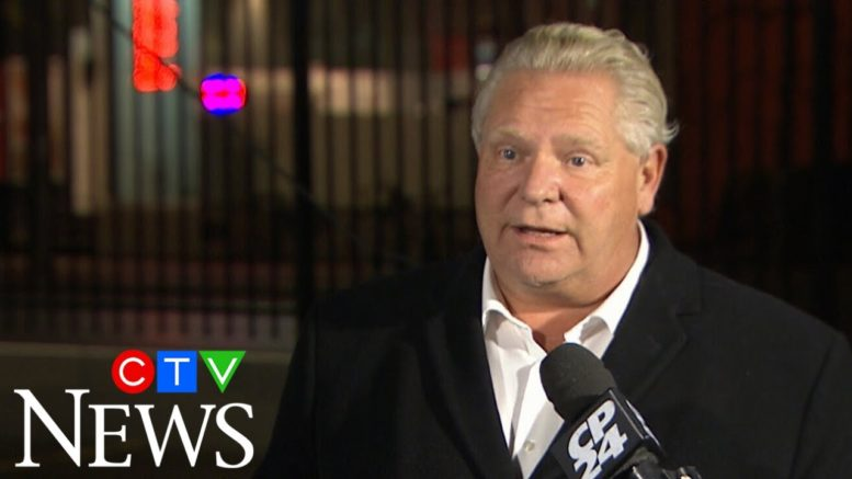 Ontario Premier Ford says he won't hesitate to implement further restrictions if needed 1