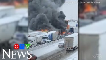 White-out conditions cause 29-vehicle pileup on U.S. highway 6