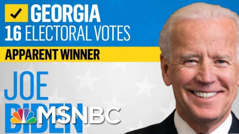 NBC News Projects Biden Is Apparent Winner In Georgia, Trump Wins North Carolina | Katy Tur | MSNBC 1