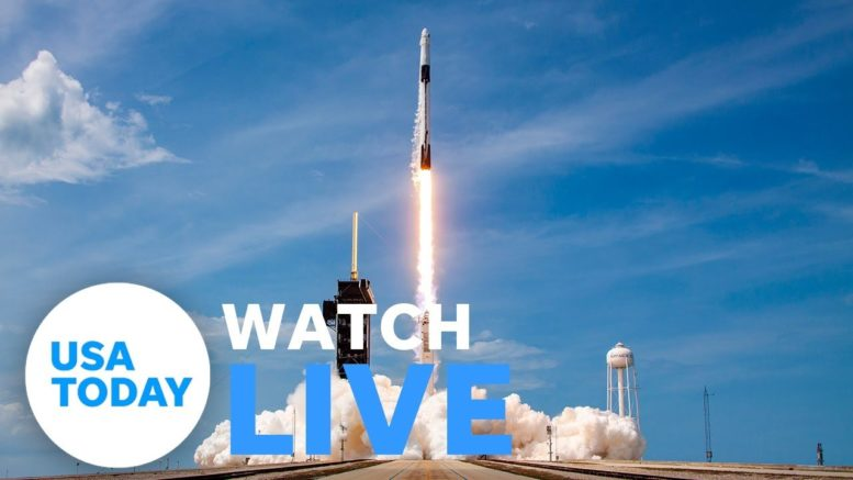 NASA AND SPACEX LAUNCH CREW DRAGON (LIVE) | USA TODAY 1
