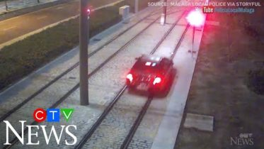 Driver takes her car for ride on Spanish metro track 6