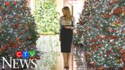 Melania Trump unveils White House holiday decorations 4