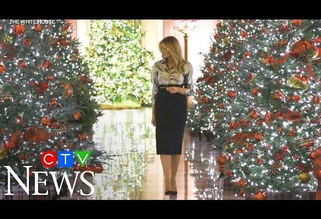 Melania Trump unveils White House holiday decorations 1