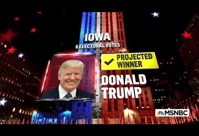 Trump Wins Iowa, NBC News Projects | MSNBC 1