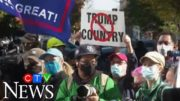 Pro and anti-Trump demonstrators rally in key states where ballots are still being counted 2