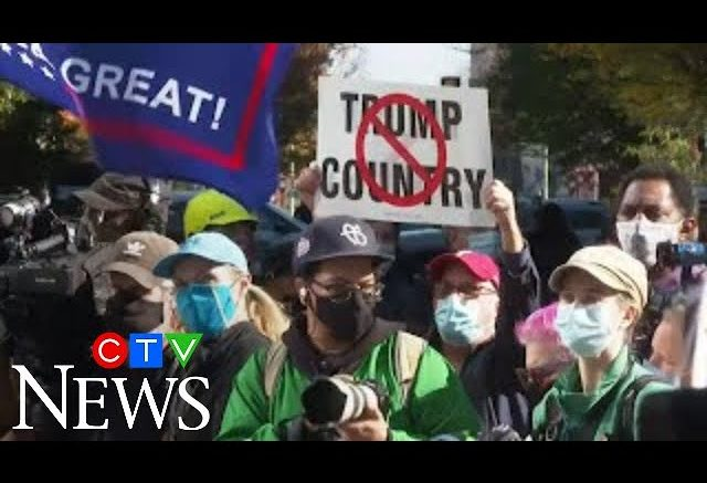 Pro and anti-Trump demonstrators rally in key states where ballots are still being counted 1