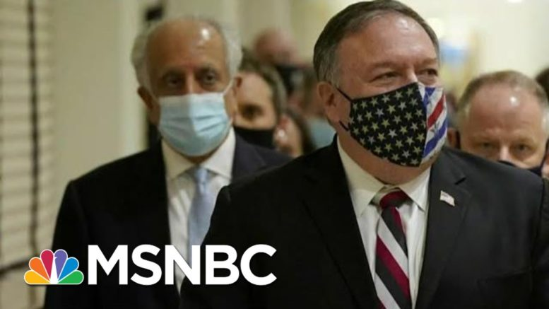 Pompeo Invites Over 900 Guests To Holiday Party, But Many Skip | Morning Joe | MSNBC 1