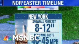 Massive Winter Storm Heading East Toward Atlantic Coastline | Hallie Jackson | MSNBC 1