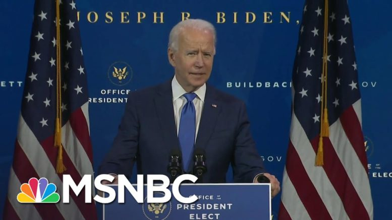 Biden Pares Down Inauguration Plans To A Size That Befits The Times | Rachel Maddow | MSNBC 1
