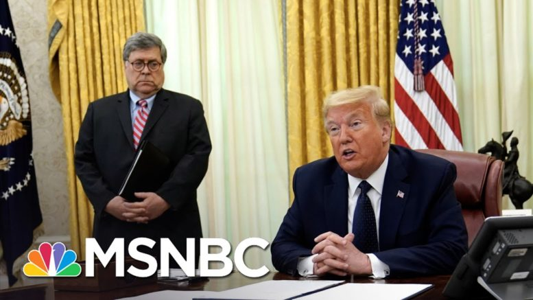 Barr Won't Back Trump Election Attacks As Pardon Probe Hits West Wing   The 11th Hour   MSNBC 1