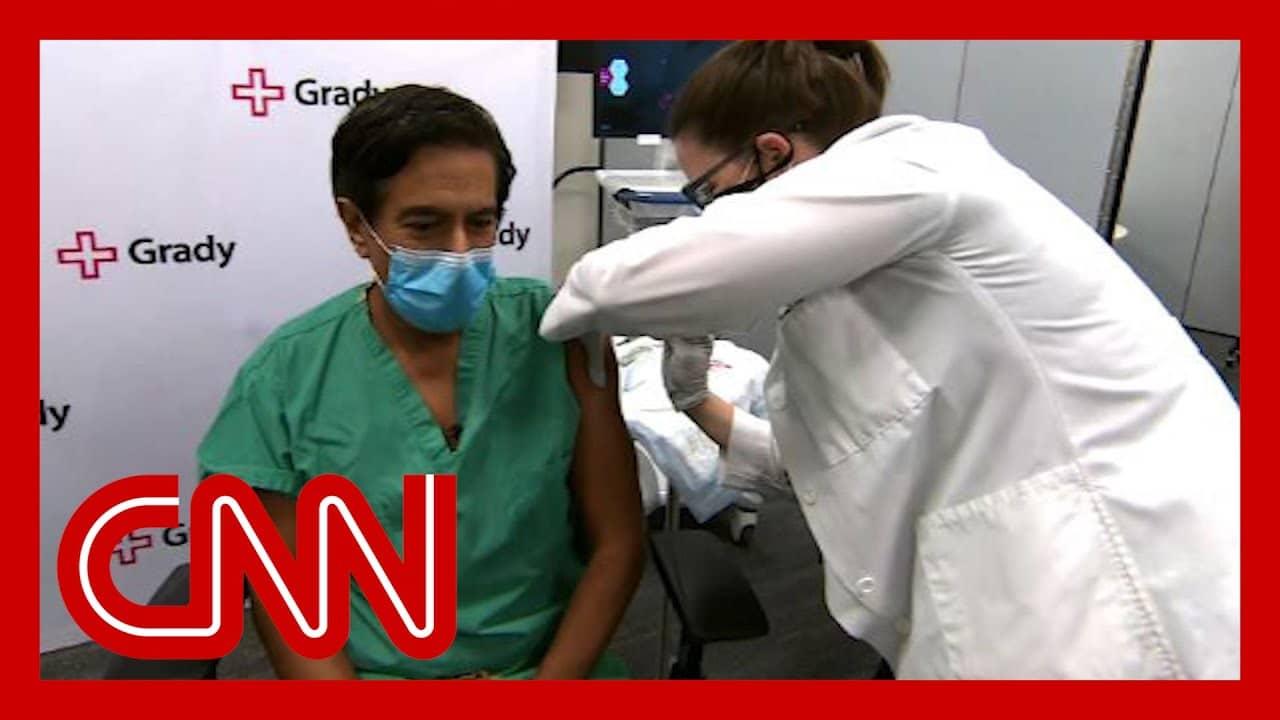 CNN's Dr. Sanjay Gupta receives the Covid-19 vaccine 2