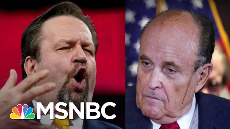 Trump Allies Gorka And Giuliani Selling Fish Oil And Cigars On TV   The 11th Hour   MSNBC 1