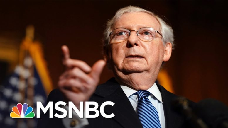 McConnell Urges Cooperation As Congress Rushes To Finalize Spending, Covid Relief Deal | MSNBC 1