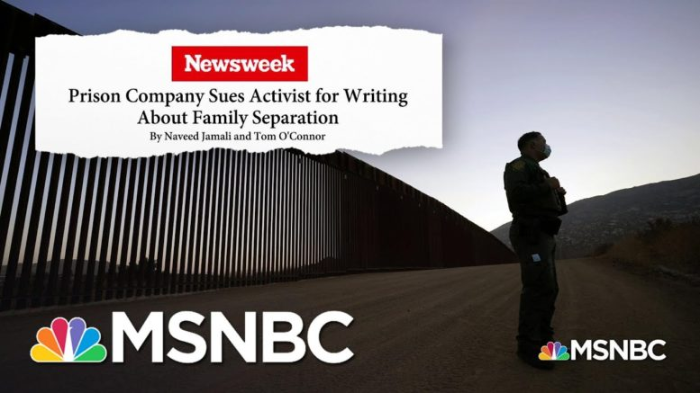 'The Best Defense Is The Truth;' Private Prison Company Sues Activist For Libel & Loses | MSNBC 1