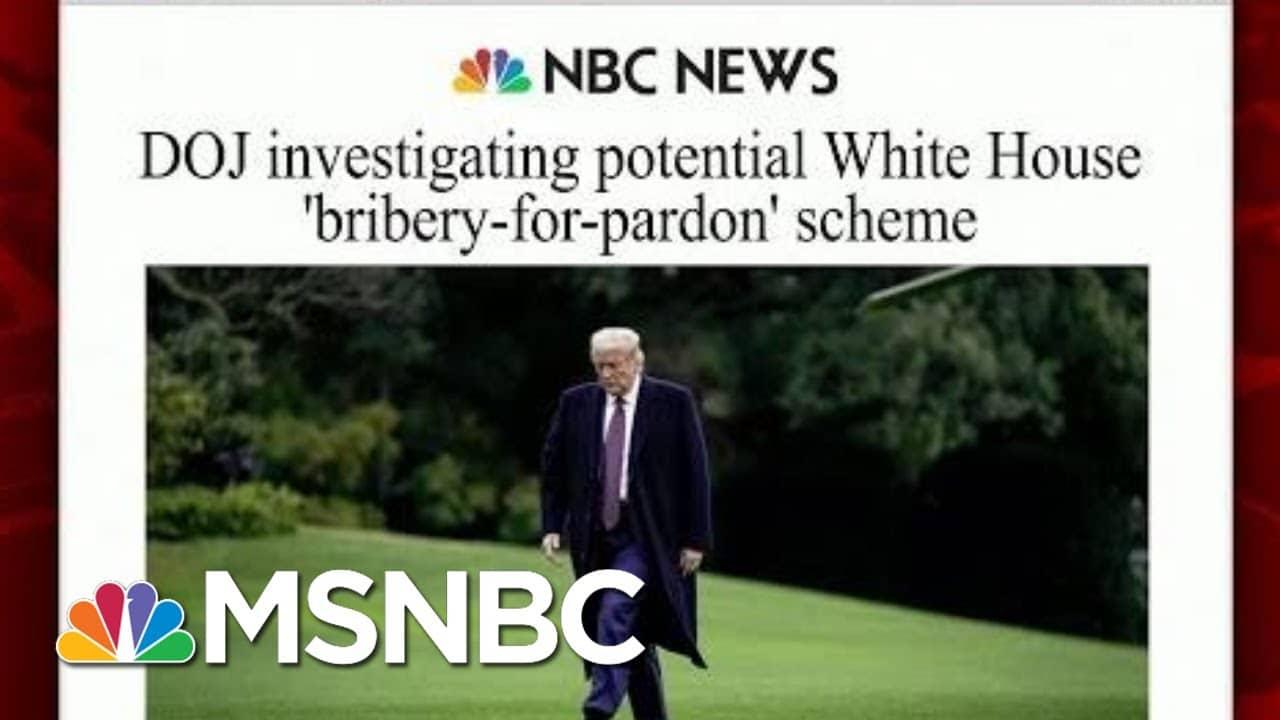DOJ Investigating Potential White House 'Bribery-For-Pardon' Scheme   Morning Joe   MSNBC 1