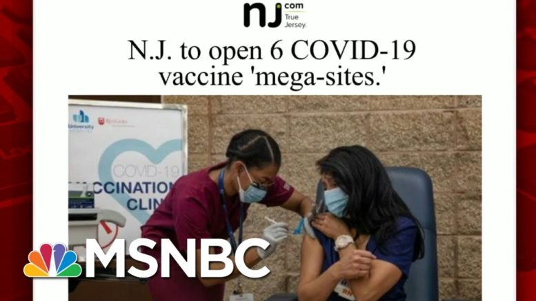 New Jersey Set To Open Virus Vaccine 'Mega-Sites'   Morning Joe   MSNBC 1