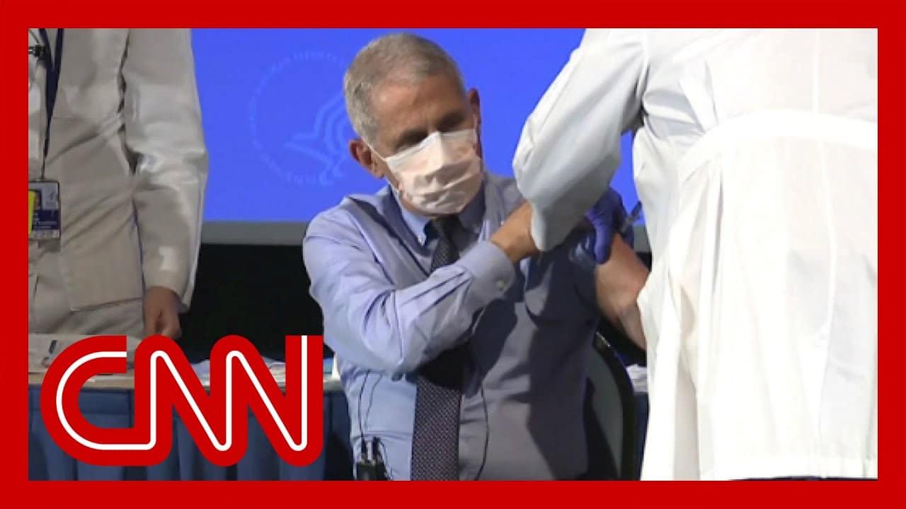 See what Dr. Fauci had to say right before receiving vaccine 1