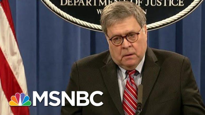 AG Barr Refutes Trump On Hunter Biden Investigation | Morning Joe | MSNBC 1