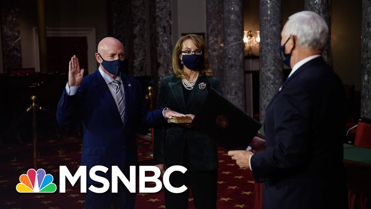 Mark Kelly Sworn In As U.S. Senator After Flipping Arizona Seat | Katy Tur | MSNBC 1
