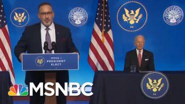 Biden's Nominee For Education Secretary Dr. Miguel Cardona Delivers Remarks | MSNBC 6