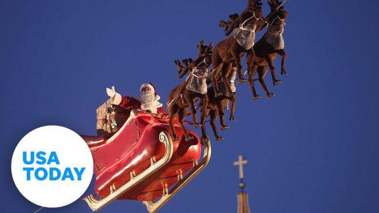 Track Santa's progress around the globe on Christmas Eve   USA TODAY 1