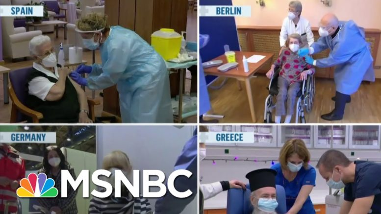 Mass Vaccine Rollout Under Way in Europe as Covid Mutates Into More Contagious Strain   MSNBC 1