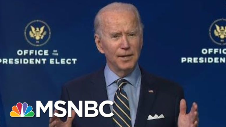 Biden Criticizes Trump Administration For 'Roadblocks' On National Security Issues | MSNBC 1