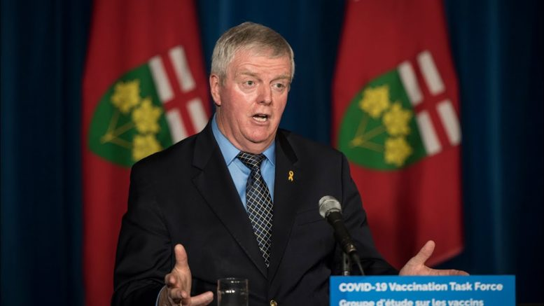 Bulk of Ontarians expected to vaccinated by July 1