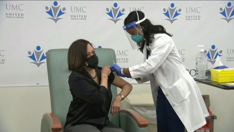 'It is relatively painless': Kamala Harris receives the COVID-19 vaccine 1