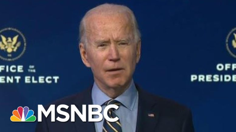 Biden Accuses Trump Political Appointees Of Obstructing Transition Process   Morning Joe   MSNBC 1