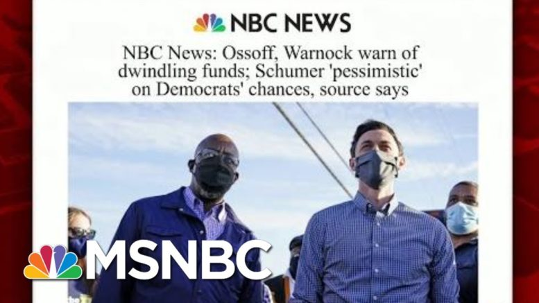 Georgia Democratic Candidates Warn Of Dwindling Funds | Morning Joe | MSNBC 1