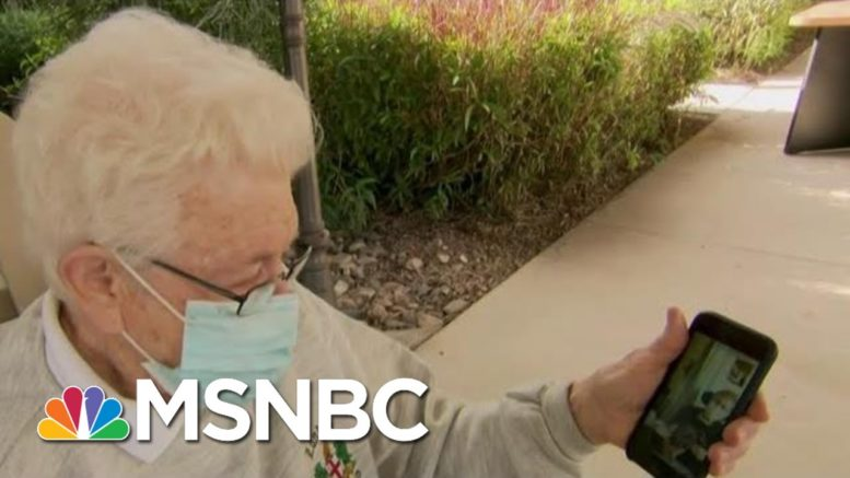 'A Miracle Has Happened:' Senior Center Resident Watches Her Partner Get Vaccine   MTP Daily   MSNBC 1