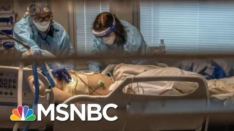 California Hospitals, Overwhelmed By COVID Surge, Put Patients In Gift Shop   MTP Daily   MSNBC 1