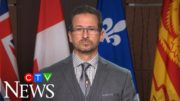 Bloc Leader Yves-Francois Blanchet reacts to the federal government's fiscal update 3