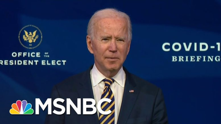 Biden Blasts The Trump Administration's Vaccine Rollout | The 11th Hour | MSNBC 1